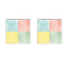 Pastel Textured Squares Cufflinks (square) by StuffOrSomething