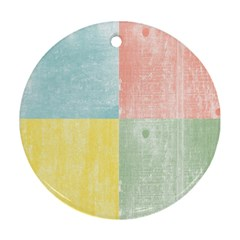 Pastel Textured Squares Round Ornament (two Sides) by StuffOrSomething