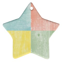 Pastel Textured Squares Star Ornament (two Sides) by StuffOrSomething