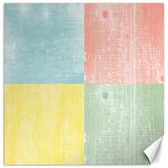 Pastel Textured Squares Canvas 16  X 16  (unframed) by StuffOrSomething