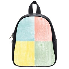 Pastel Textured Squares School Bag (small) by StuffOrSomething