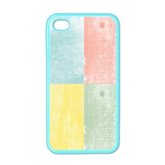 Pastel Textured Squares Apple Iphone 4 Case (color) by StuffOrSomething