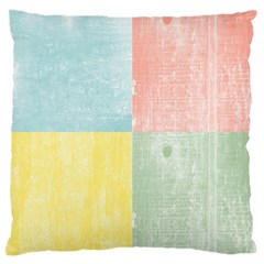 Pastel Textured Squares Large Cushion Case (single Sided)  by StuffOrSomething