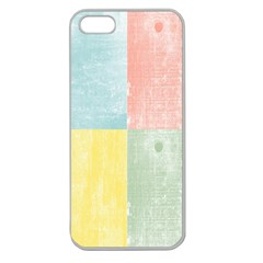 Pastel Textured Squares Apple Seamless Iphone 5 Case (clear) by StuffOrSomething