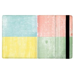Pastel Textured Squares Apple Ipad 2 Flip Case by StuffOrSomething