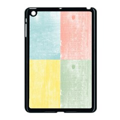 Pastel Textured Squares Apple Ipad Mini Case (black) by StuffOrSomething
