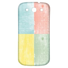 Pastel Textured Squares Samsung Galaxy S3 S Iii Classic Hardshell Back Case by StuffOrSomething