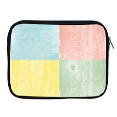Pastel Textured Squares Apple Ipad Zippered Sleeve by StuffOrSomething