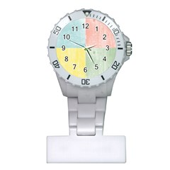 Pastel Textured Squares Nurses Watch by StuffOrSomething