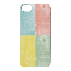 Pastel Textured Squares Apple Iphone 5s Hardshell Case by StuffOrSomething