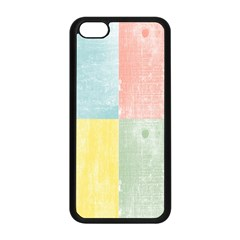 Pastel Textured Squares Apple Iphone 5c Seamless Case (black) by StuffOrSomething