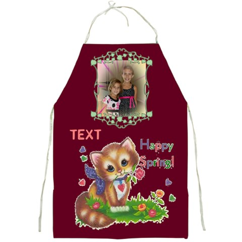 Happy Spring Apron 2 By Joy Johns   Full Print Apron   Y113wp0sntoy   Www Artscow Com Front