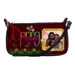 Spring shoulder clutch bag