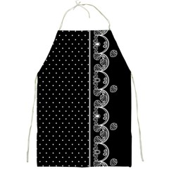 Lace White Dots White With Black Apron by strawberrymilk