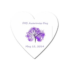 Fms Awareness 2014 Magnet (heart) by FunWithFibro