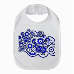 Trippy Blue Swirls Bib by StuffOrSomething