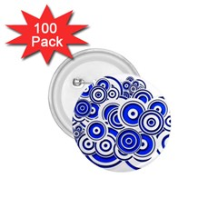 Trippy Blue Swirls 1 75  Button (100 Pack) by StuffOrSomething
