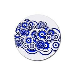 Trippy Blue Swirls Drink Coasters 4 Pack (round) by StuffOrSomething
