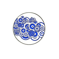 Trippy Blue Swirls Golf Ball Marker (for Hat Clip) by StuffOrSomething