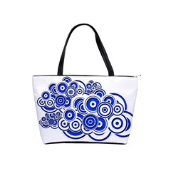Trippy Blue Swirls Large Shoulder Bag by StuffOrSomething