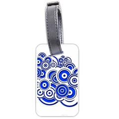 Trippy Blue Swirls Luggage Tag (one Side) by StuffOrSomething