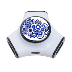 Trippy Blue Swirls 3 Port Usb Hub by StuffOrSomething