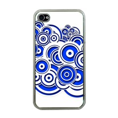 Trippy Blue Swirls Apple Iphone 4 Case (clear) by StuffOrSomething