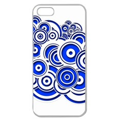 Trippy Blue Swirls Apple Seamless Iphone 5 Case (clear) by StuffOrSomething