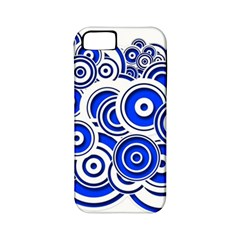 Trippy Blue Swirls Apple Iphone 5 Classic Hardshell Case (pc+silicone) by StuffOrSomething