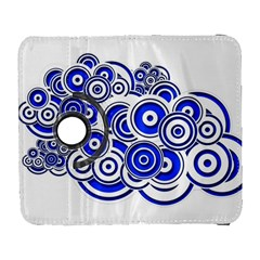 Trippy Blue Swirls Samsung Galaxy S  Iii Flip 360 Case by StuffOrSomething