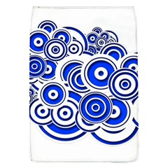 Trippy Blue Swirls Removable Flap Cover (large) by StuffOrSomething
