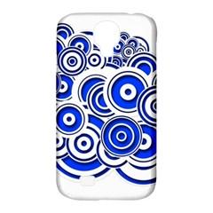 Trippy Blue Swirls Samsung Galaxy S4 Classic Hardshell Case (pc+silicone) by StuffOrSomething
