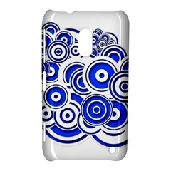 Trippy Blue Swirls Nokia Lumia 620 Hardshell Case by StuffOrSomething