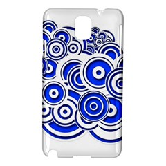 Trippy Blue Swirls Samsung Galaxy Note 3 N9005 Hardshell Case by StuffOrSomething
