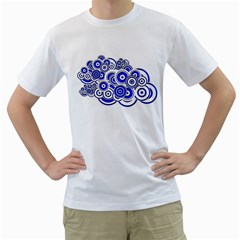 Trippy Blue Swirls Men s T Shirt (white)  by StuffOrSomething