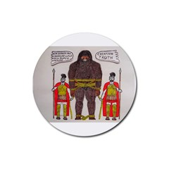 Big Foot & Romans Drink Coasters 4 Pack (round) by creationtruth