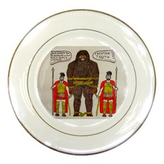Big Foot & Romans Porcelain Display Plate by creationtruth