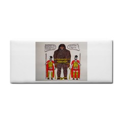 Big Foot & Romans Hand Towel by creationtruth