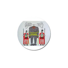 Big Foot 2 Romans Golf Ball Marker 4 Pack by creationtruth