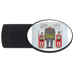 Big Foot 2 Romans 2gb Usb Flash Drive (oval) by creationtruth