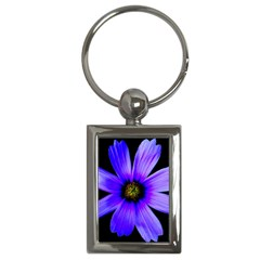 Purple Bloom Key Chain (rectangle)