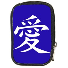 Love In Japanese Compact Camera Leather Case by BeachBum
