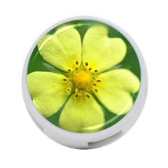 Yellowwildflowerdetail 4 Port Usb Hub (two Sides) by bloomingvinedesign