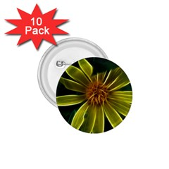Yellow Wildflower Abstract 1.75  Button (10 pack)