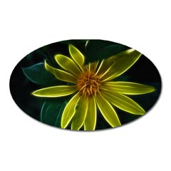 Yellow Wildflower Abstract Magnet (oval) by bloomingvinedesign