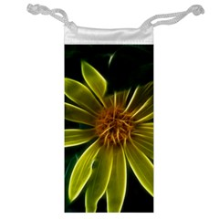 Yellow Wildflower Abstract Jewelry Bag by bloomingvinedesign