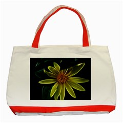 Yellow Wildflower Abstract Classic Tote Bag (red) by bloomingvinedesign