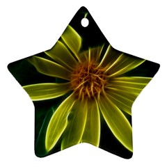 Yellow Wildflower Abstract Star Ornament (two Sides) by bloomingvinedesign