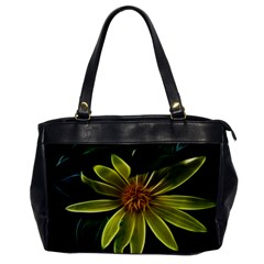 Yellow Wildflower Abstract Oversize Office Handbag (one Side) by bloomingvinedesign