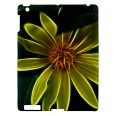 Yellow Wildflower Abstract Apple iPad 3/4 Hardshell Case by bloomingvinedesign